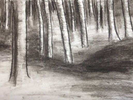 charcoal_trees_by_deviousdots-d5zigfw