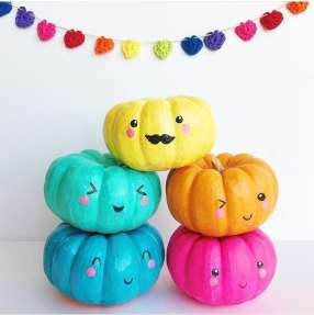 Rainbow-Pumpkin-Decorating-Ideas-8
